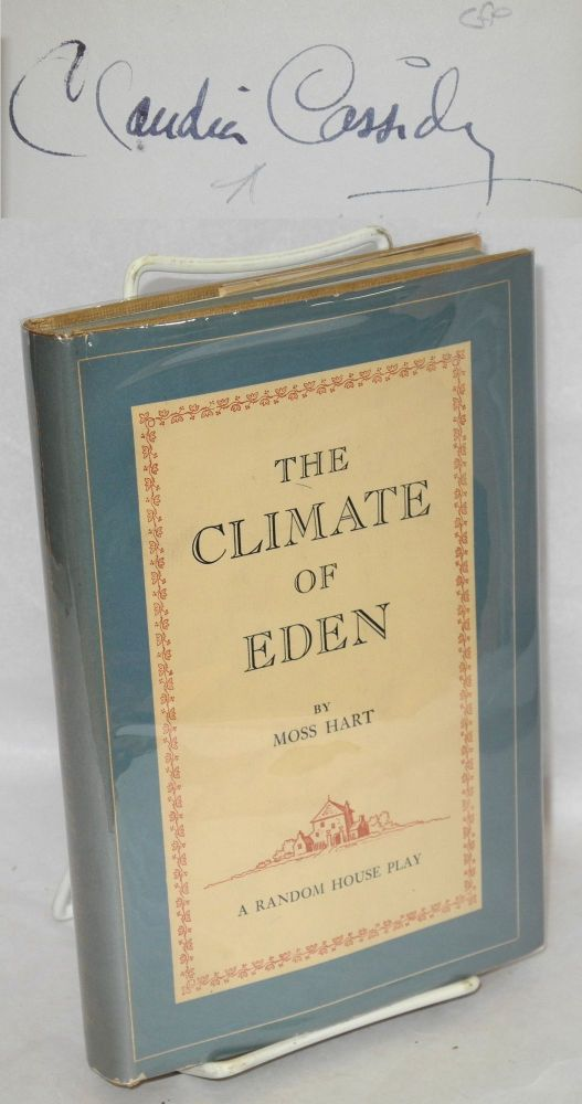"The Climate of Eden a Random House play based on Edgar Mittelholzer's novel ""Shadows Move Among Them"" Moss Hart, Claudia Cassidy association."