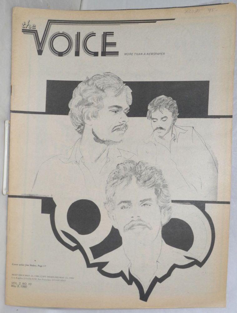 The Voice: more than a newspaper; vol. 2, #10, May 9, 1980. Paul D. Hardman, Milton Marks Jesse Will Deane, Quentin Kopp.