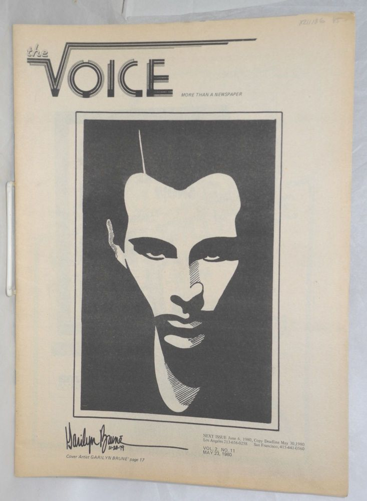 The Voice: more than a newspaper; vol. 2, #11, May 23, 1980. Paul D. Hardman, Milton Marks Jesse Will Deane, Quentin Kopp.