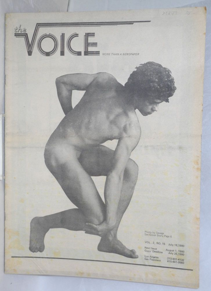 The voice: more than a newspaper; vol. 2, #15, July 18, 1980. Paul D. Hardman, Milton Marks Jesse Will Deane, Quentin Kopp.