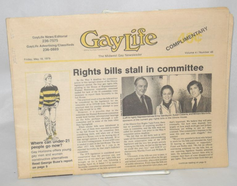 Chicago GayLife: the Midwest gay newsleader; vol. 4, #48, Friday, May 18, 1979. Ronald Anderson.