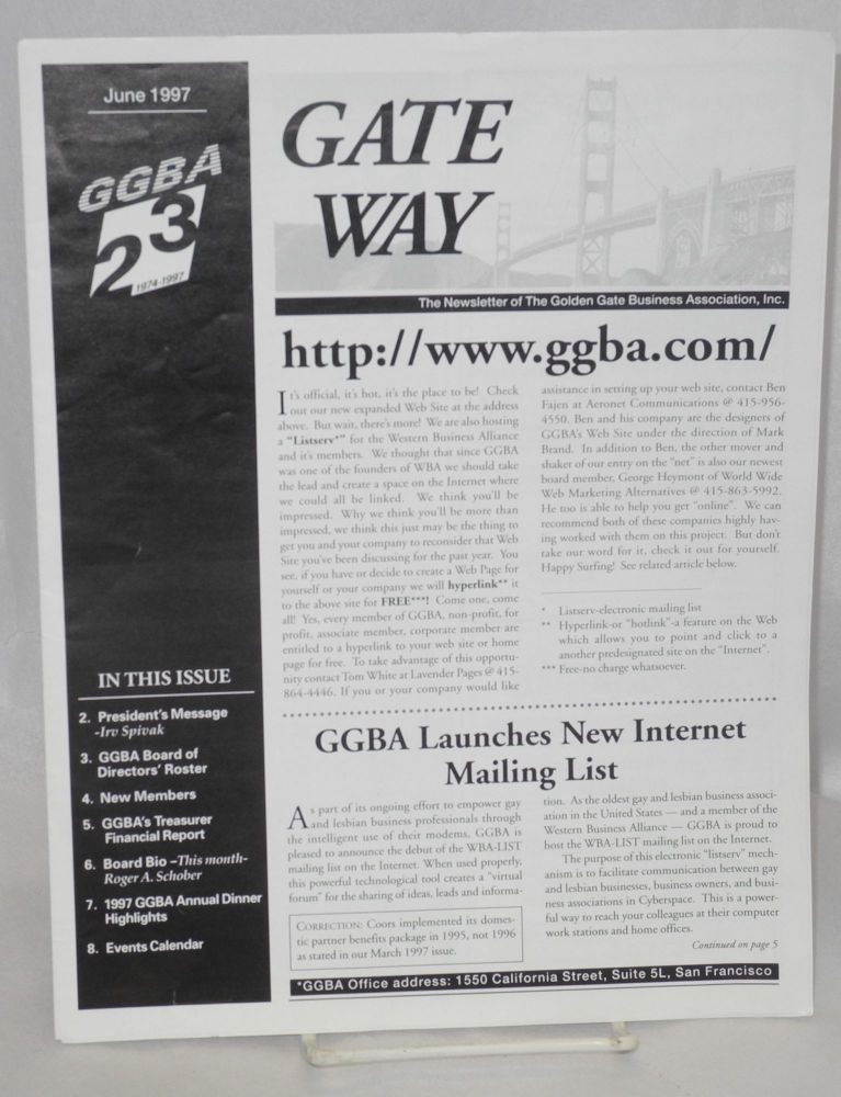 Gate Way: the newsletter of the Golden Gate Business Association; June 1997