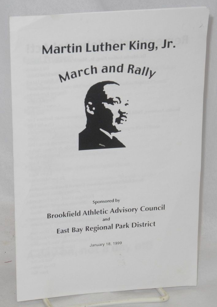 Martin Luther King, Jr. March & Rally sponsored by Brookfield Athletic Advisory Council and East Bay Regional Park District, January 18, 1999
