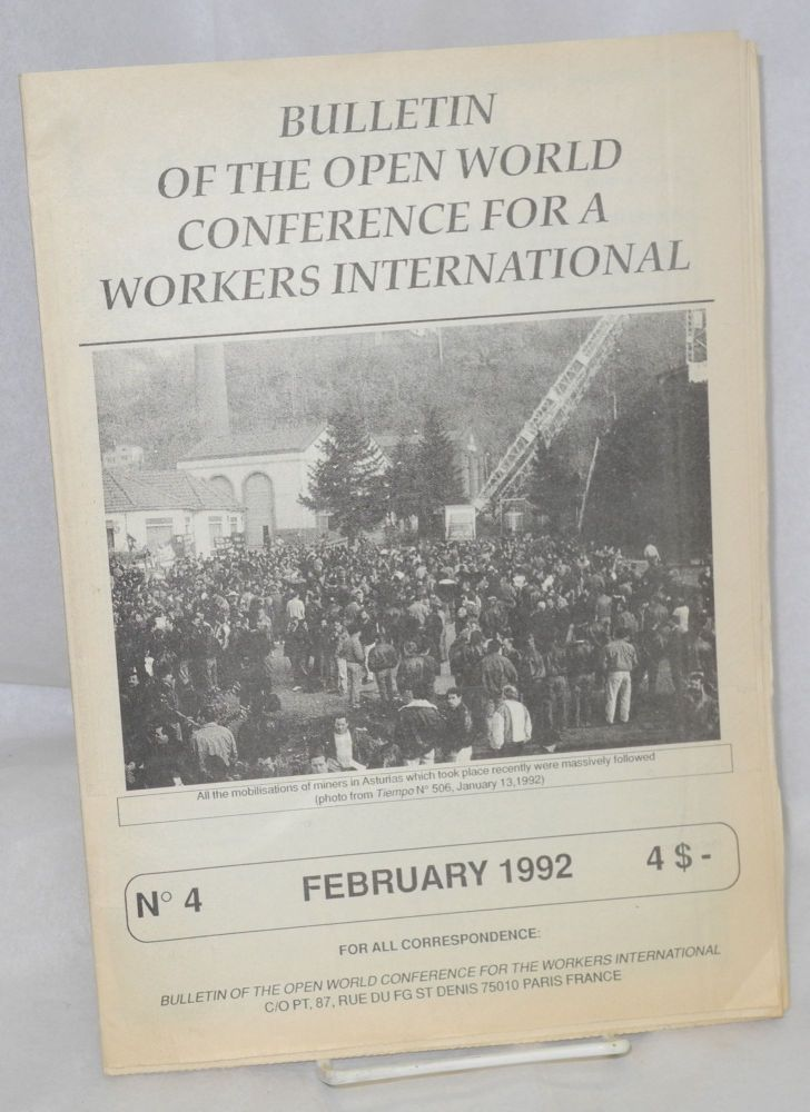 Bulletin of the Open World Conference for a Workers International. No. 4 (February 1992)