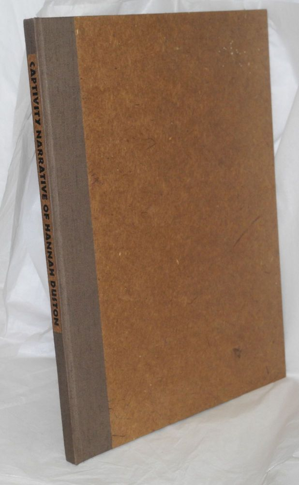 Captivity Narrative of Hannah Duston, related by Cotton Mather, John Greenleaf Whittier, Nathaniel Hawthorne and Henry David Thoreau, four versions of events in 1697, interspersed wtih thirty-five wood-block prints by Richard Bosman. Hannah Duston.