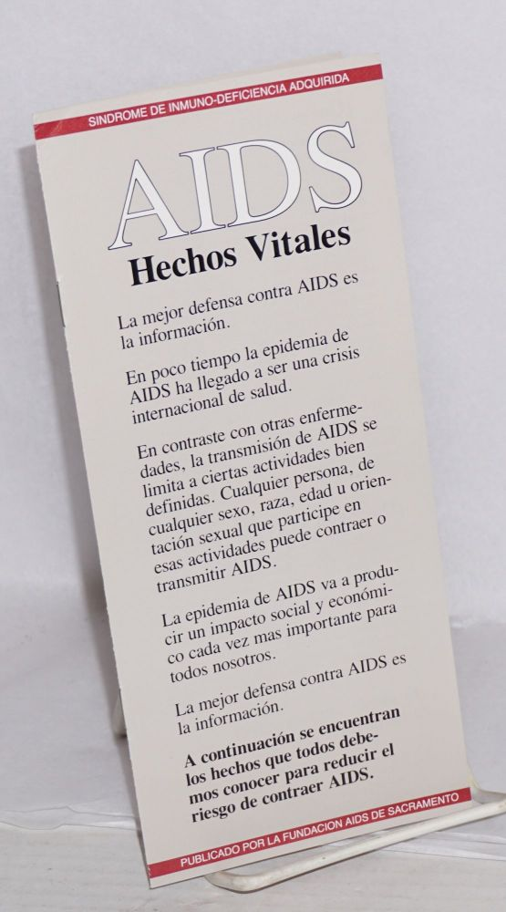 AIDS: hechos vitales [pamphlet]