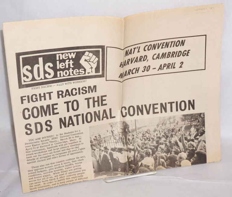 SDS new left notes [1972 promo issue]. Students for a. Democratic Society.