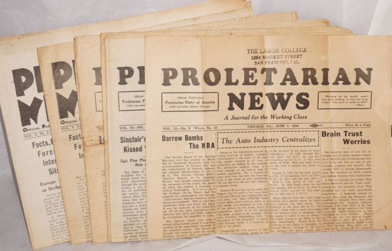 Proletarian News [Eight issues]. Proletarian Party.