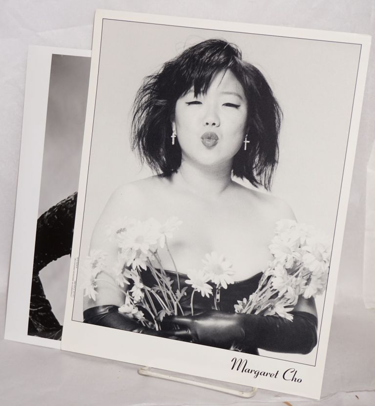 Two photos of Margaret Cho. Margaret Cho.