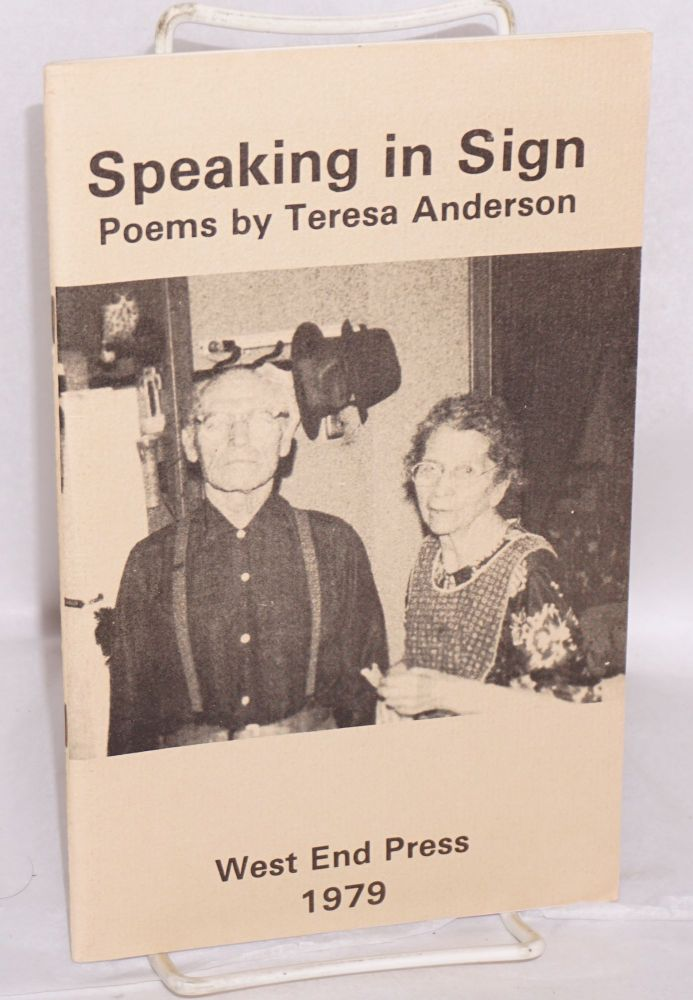 Speaking in Sign poems. Teresa Anderson.