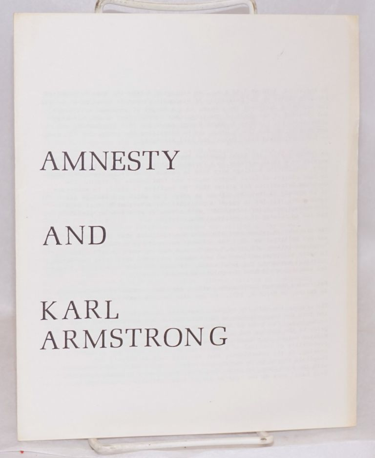 Amnesty and Karl Armstrong