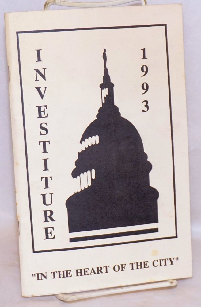 "Investiture 1993: ""In the heart of the City"" [program]. The Imperial Court of San Francisco."