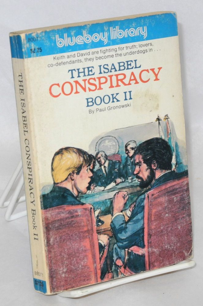 The Isabel conspiracy, book II. Paul Gronowski, cover, Adam.