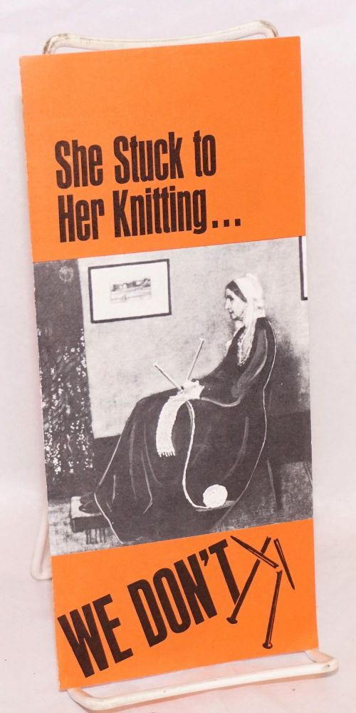She stuck to her knitting... we don't. AFL-CIO Committee on Political Education.