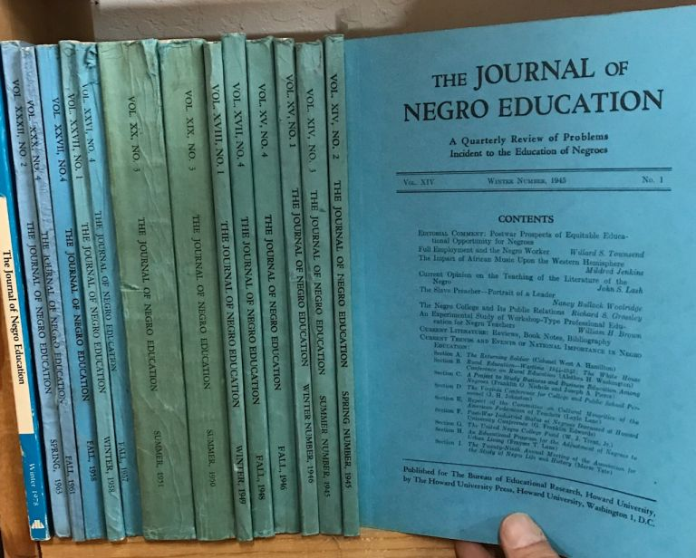 Journal of Negro Education: a quarterly review of problems incident to the education of Negroes [15 issues]