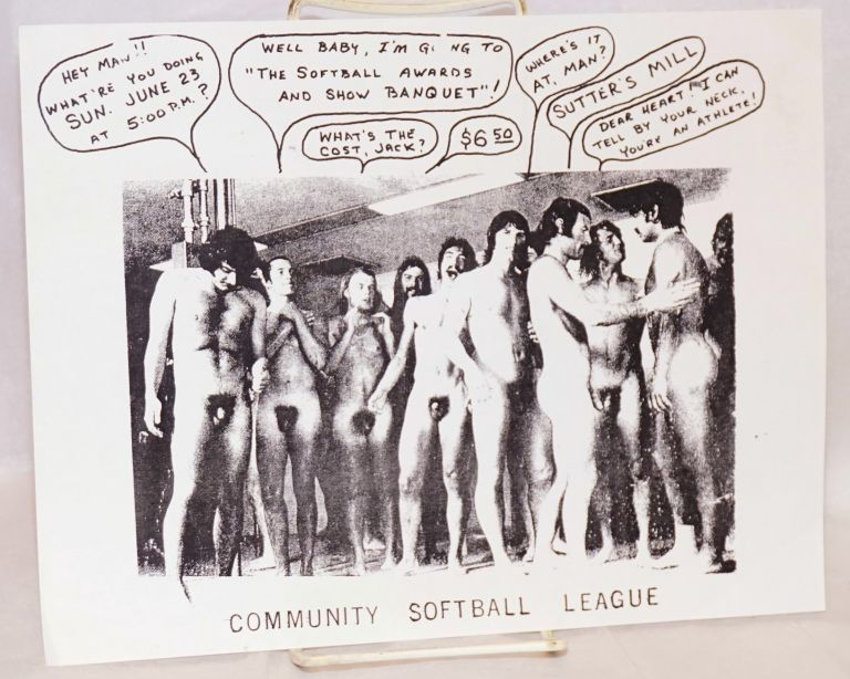 Community Softball League [handbill]