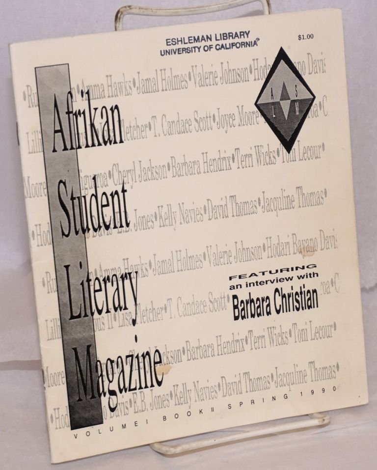 Afrikan Student Literary Magazine. Vol. 1 Book II (Spring 1990)
