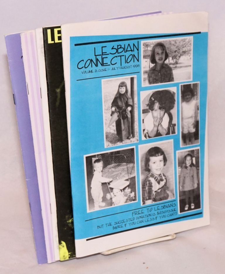 Lesbian Connection: for, by & about lesbians; vol. 21, issues 1-3, 5 & 6, July 1998 - June 1999 [5 issue partial run of vol. 21]