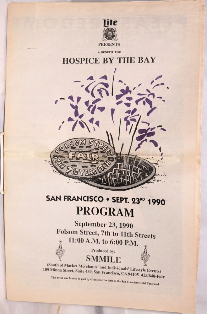 Folsom Street Fair program section from SF Sentinel 7th year itch, September 23rd, 1990