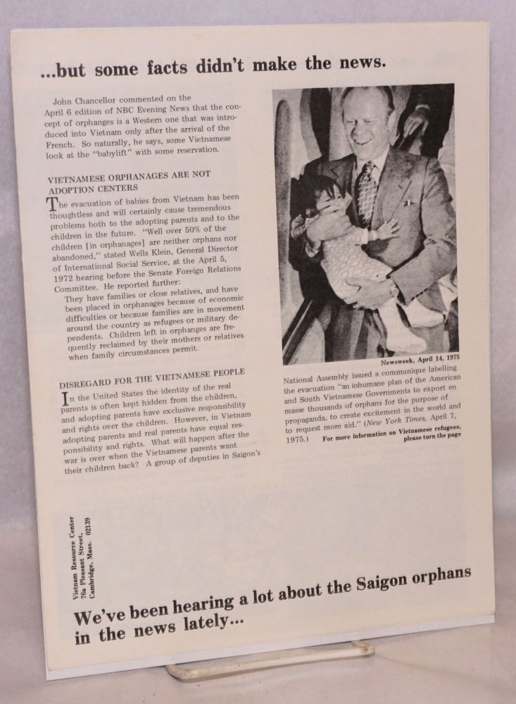 We've been hearing a lot about the Saigon orphans in the news lately... but some facts didn't...