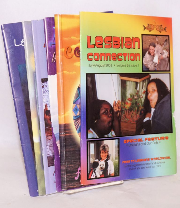 Lesbian Connection: for, by & about lesbians: vol. 26, issues 1-6, July/August, 2003 - May/June, 2004 [complete run of volume 26]
