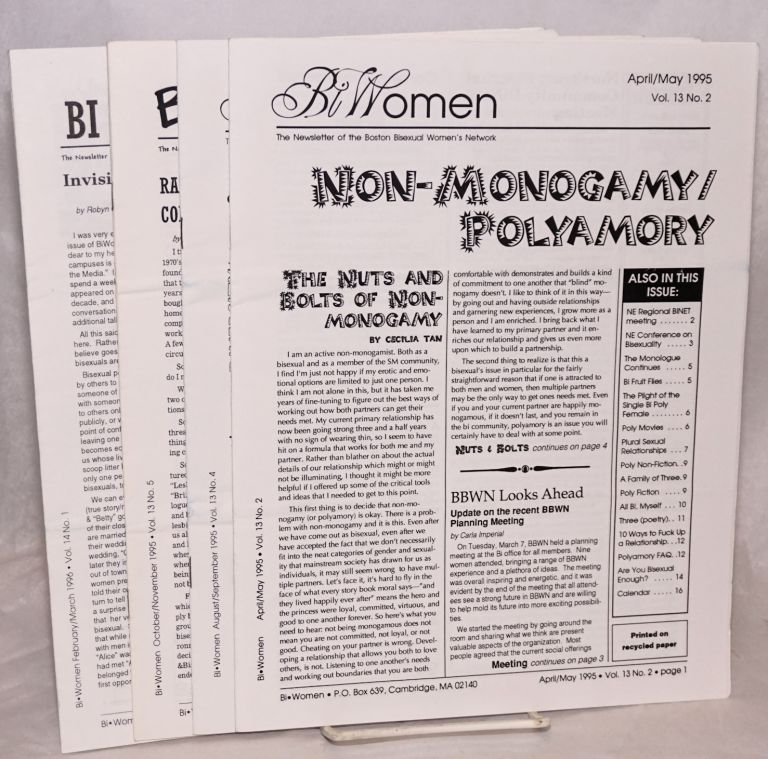 BiWomen: the newsletter of the Boston Bisexual Women's Network [5 issue broken run]