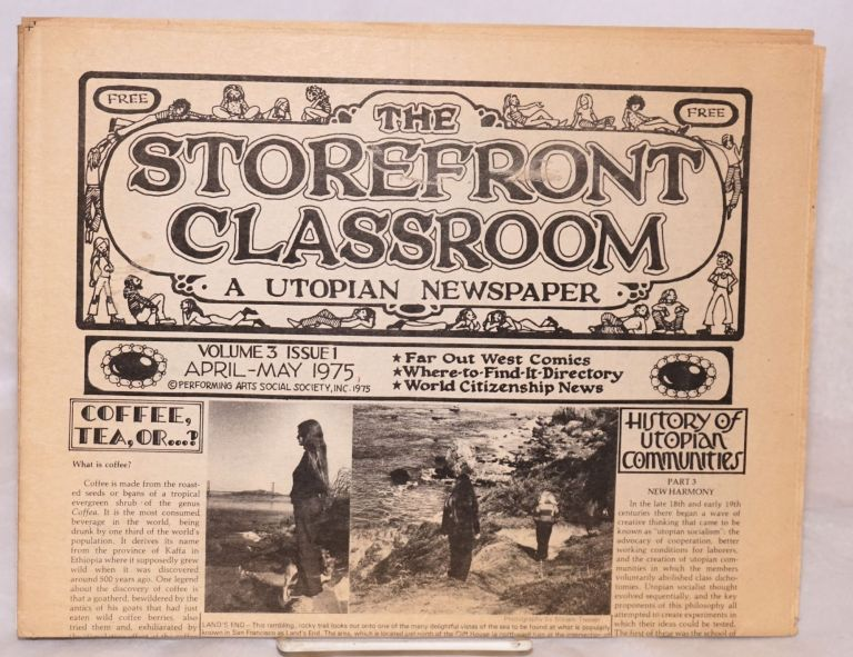 The storefront classroom: a utopian newspaper. Vol. 3, issue 1 (April-May 1975). Kerista Commune.