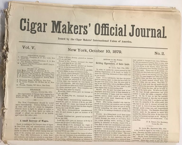 Cigar makers' official journal [seven issues]