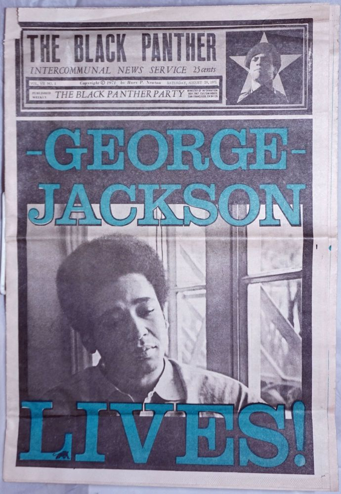 The Black Panther Intercommunal News Service vol. VII, no. 1, Saturday, August 28, 1971. George Jackson Lives!