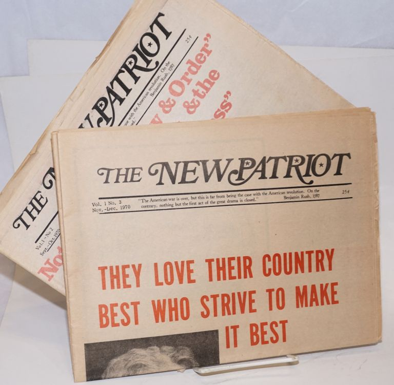 The New Patriot. Vol. 1, nos. 2 and 3 (two issues, Sept/Oct. and Nov/Dec. 1970)