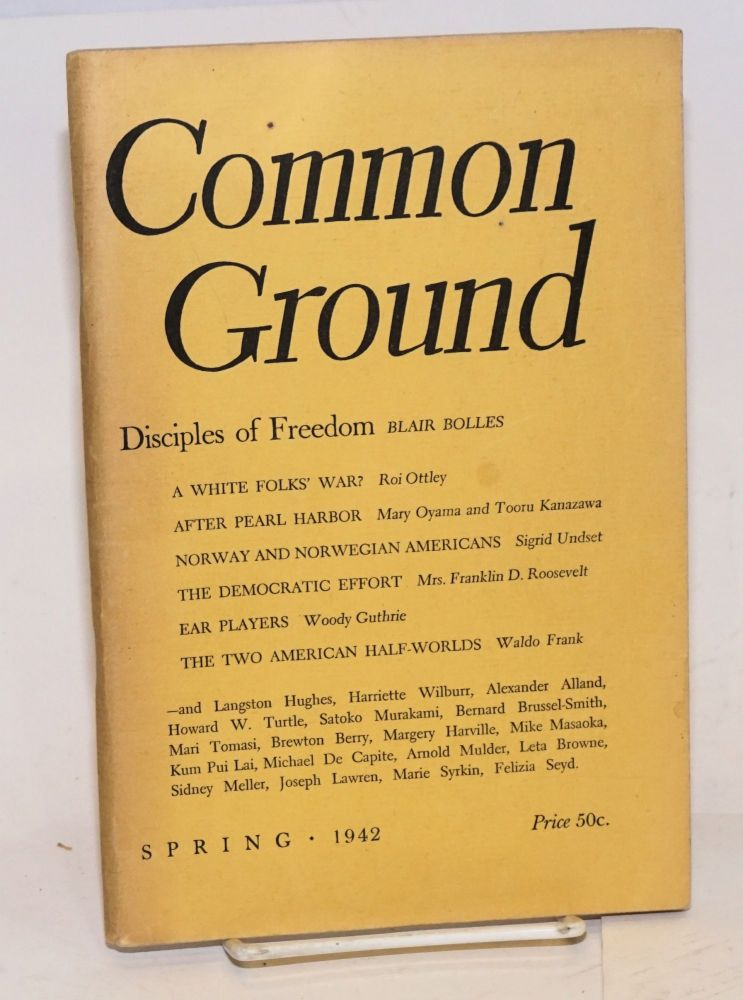 Common Ground. Vol. II, No. 3 (Spring 1942). M. Margaret Anderson.