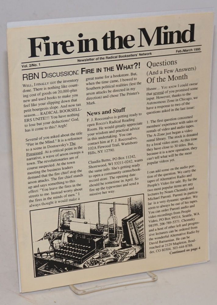 Fire in the Mind. Newsletter of the Radical Booksellers' Network. Vol. 2 no. 1 (Feb/March 1995)