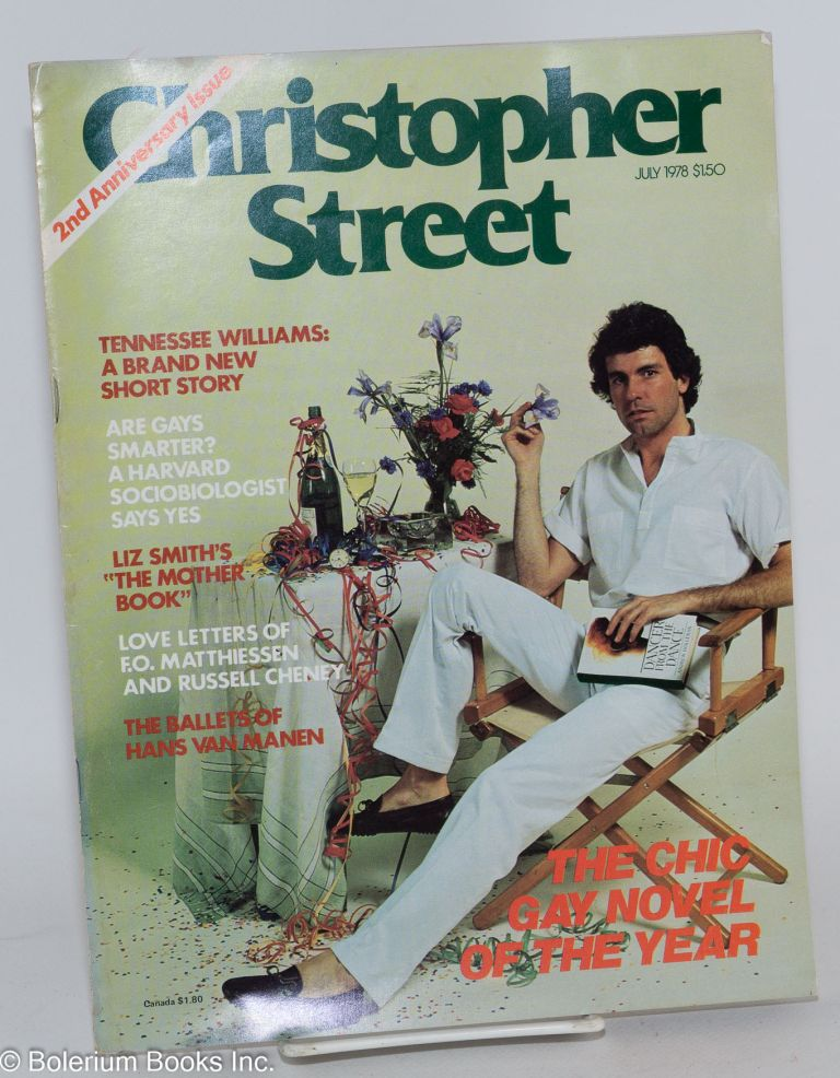 Christopher Street: vol. 3, #1, July 1978; Tennessee Williams New short story. Charles L. Ortleb, Tennessee Williams publisher, Liz Smith, Andrew Holleran.