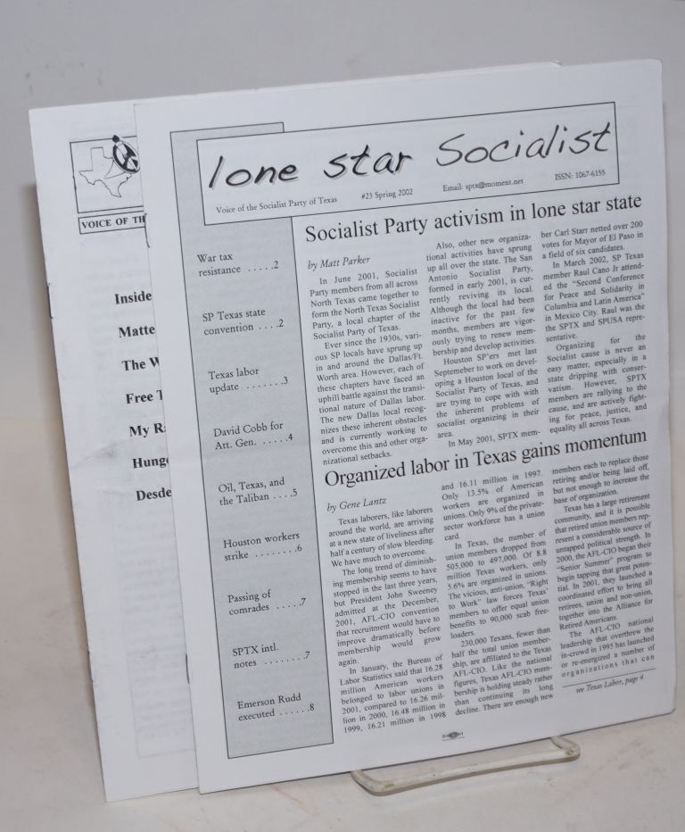 The Lone Star Socialist: voice of the Socialist Party of Texas [two issues]