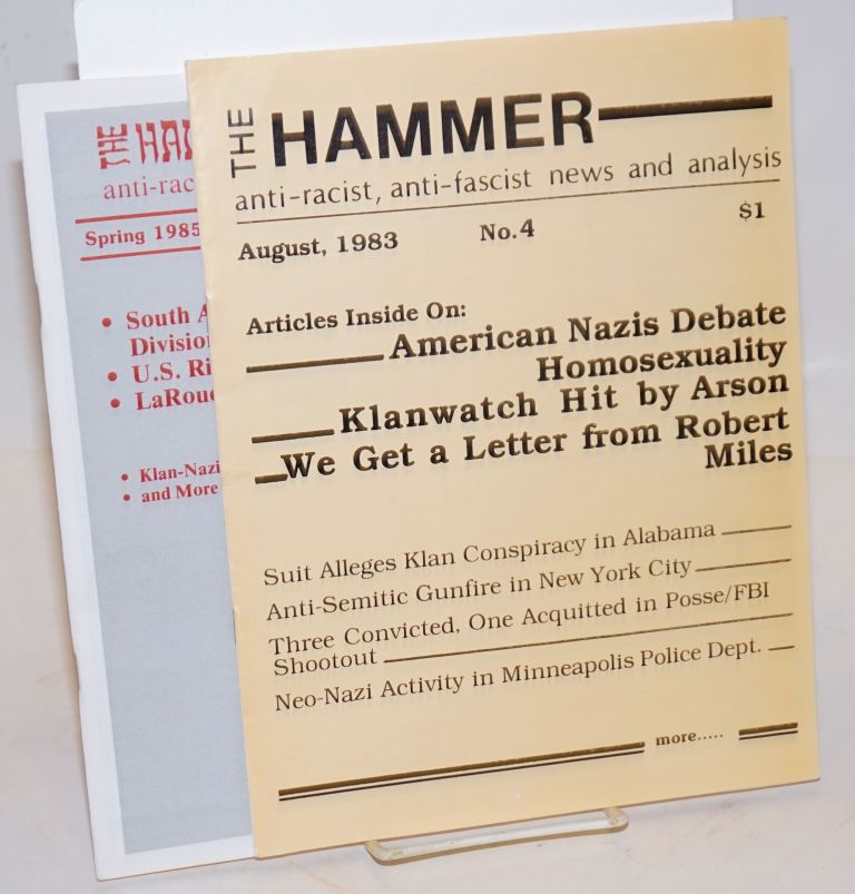 The Hammer: Anti-racist, anti-fascist news and analysis [two issues, 4 and 9]