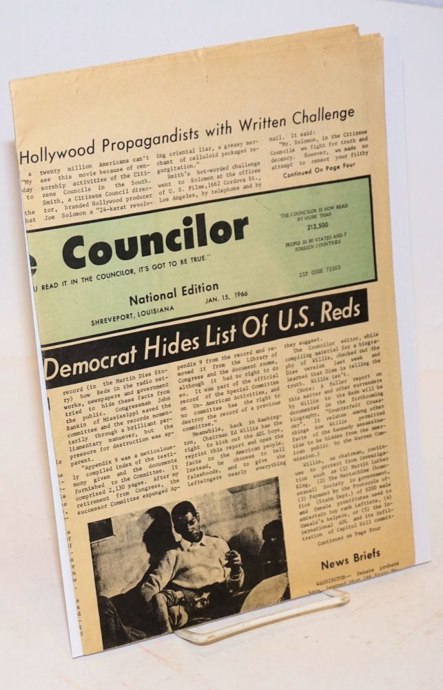 The Councilor. Vol. 3 no. 20 (Jan. 15, 1966)