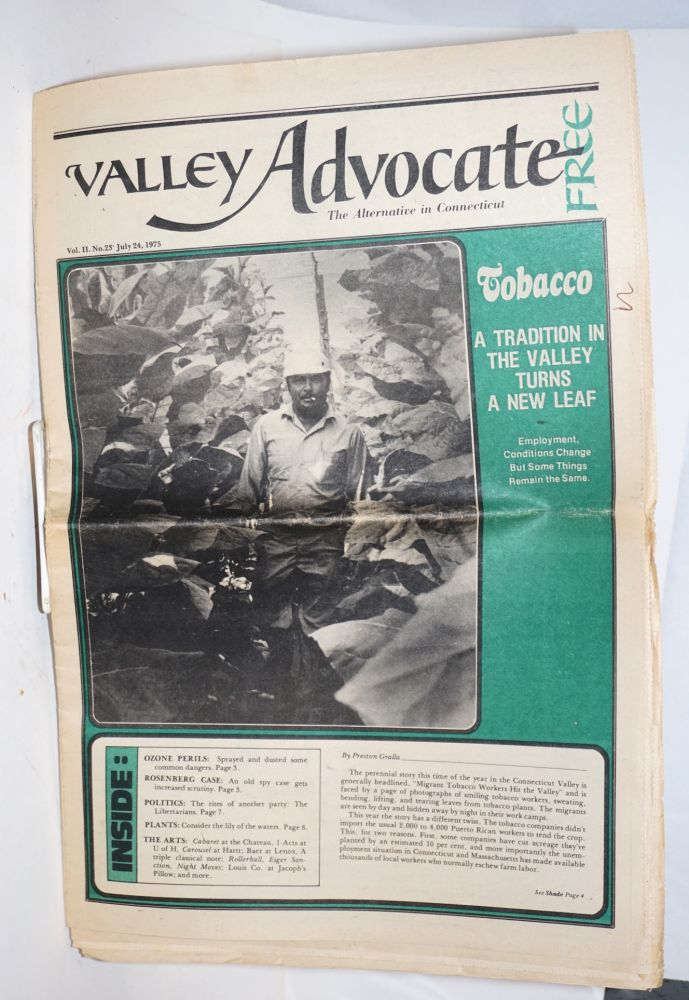 Valley Advocate, Vol. 2, No. 23, July 24, 1975; The Alternative in Connecticut. Edward Matys.