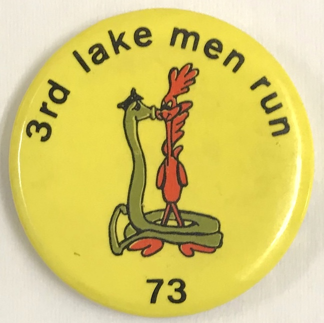 3rd Lake Men Run / 73 [pinback button]