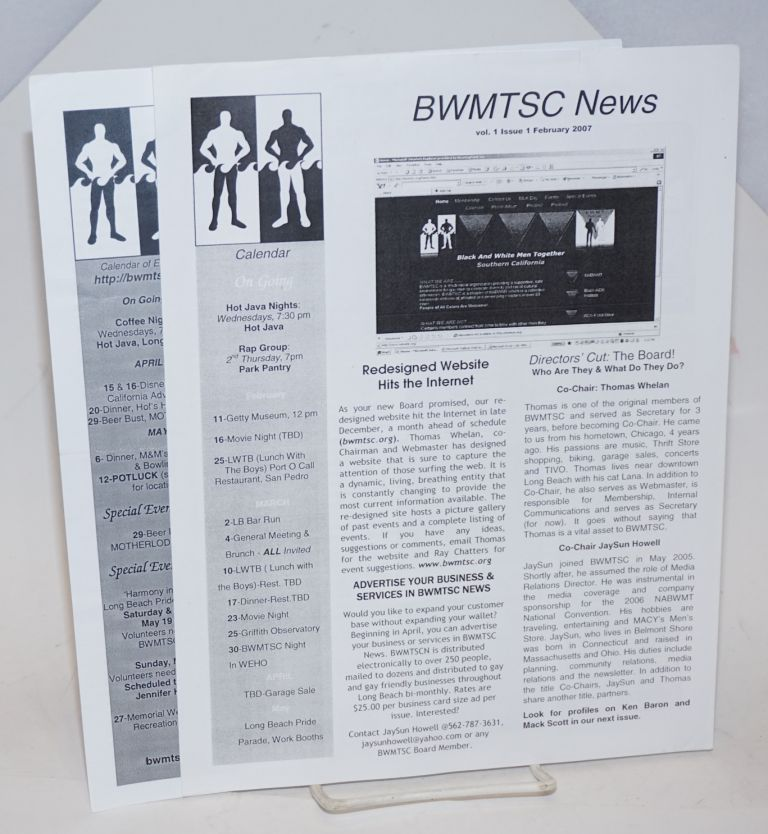 BWMTSC News: two issues
