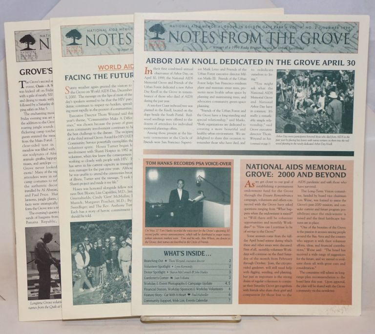 Notes from the Grove: [newsletters] Three issues