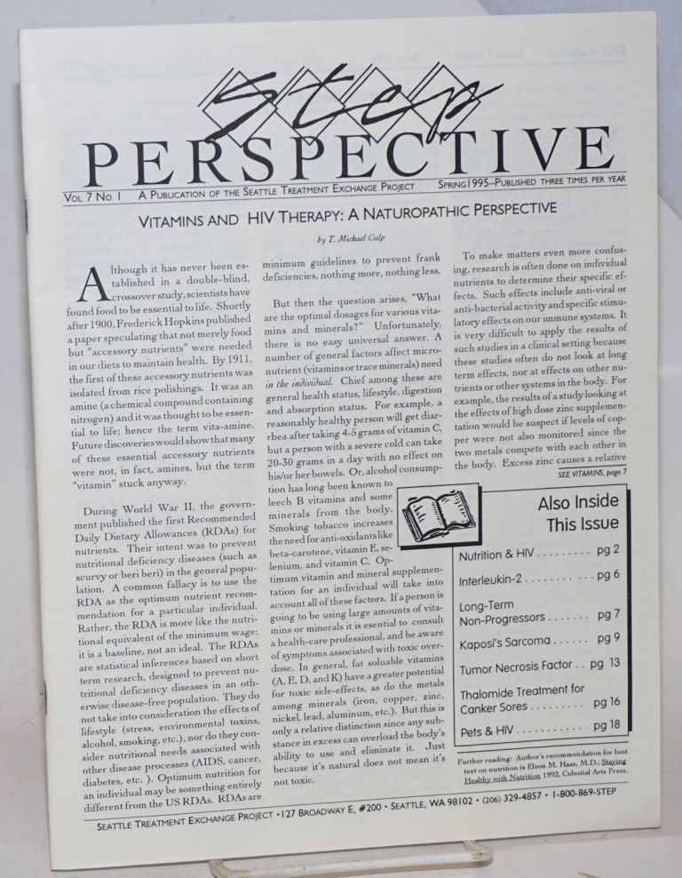 Step Perspective: vol. 7, #1, Spring 1995; Vitamins and HIV therapy: a naturopathic perspective
