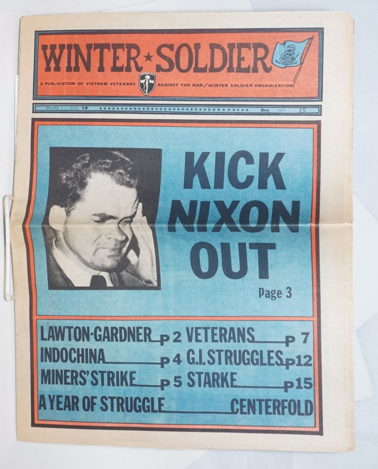Winter Soldier. A publication of Vietnam Veterans Against the War/Winter Soldier Organization; volume 3 no. 10 (Dec. 1973)