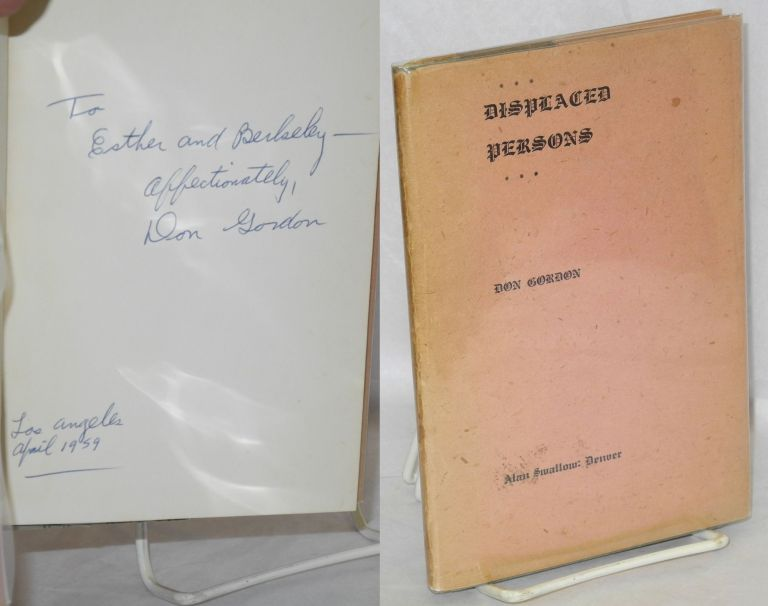 Displaced persons. Don Gordon.
