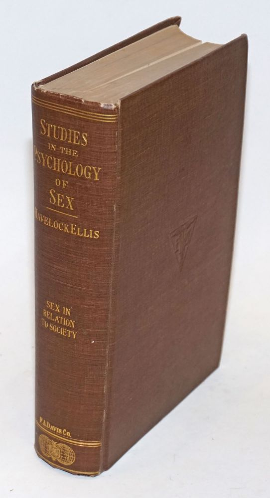 Studies in the Psychology of Sex: vol. 5: Erotic symbolism, the mechanism of detumescence, the psychic state in pregnancy. Havelock Ellis.