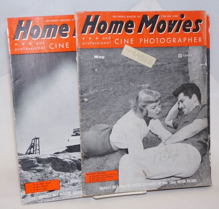 Home Movies and professional Cine Photographer; Hollywood's Magazine for the 8mm and 16mm Amateur / America's only Magazine devoted exclusively to 8mm - 16mm motion pictures. May 1957 Vol XXIV No 5 [&] May 1958 Vol XXV No 5 [&] November 1958 No 11 [&] December No 12 [&] February 1959 Vol XXVI No 2 [5 issues as a small lot]. Henry Provisor.