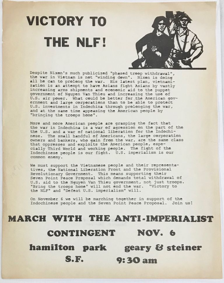 Victory to the NLF! [handbill]