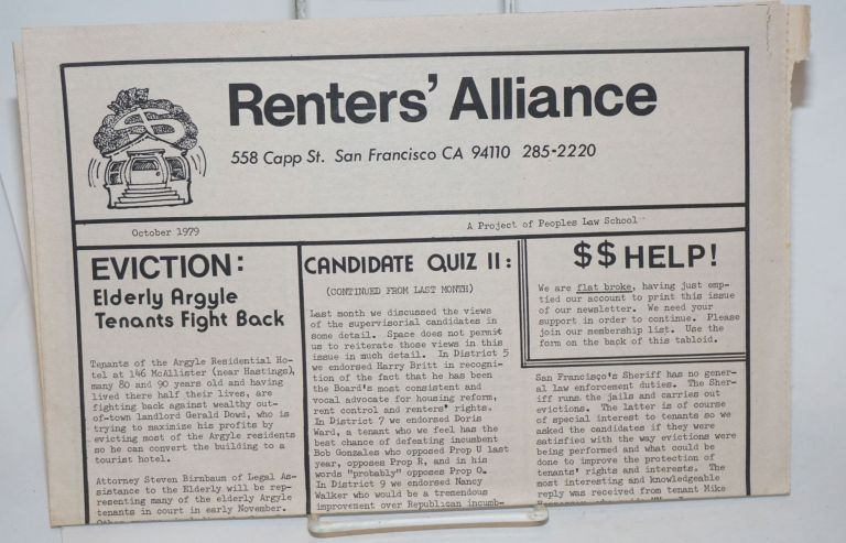 Renters' Alliance: a project of Peoples Law School. October 1979