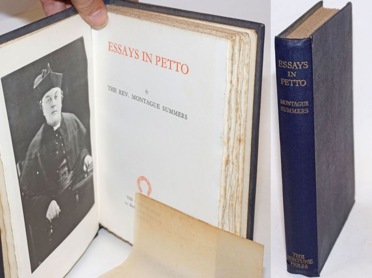 Essays in Petto. the Rev. Montague Summers.