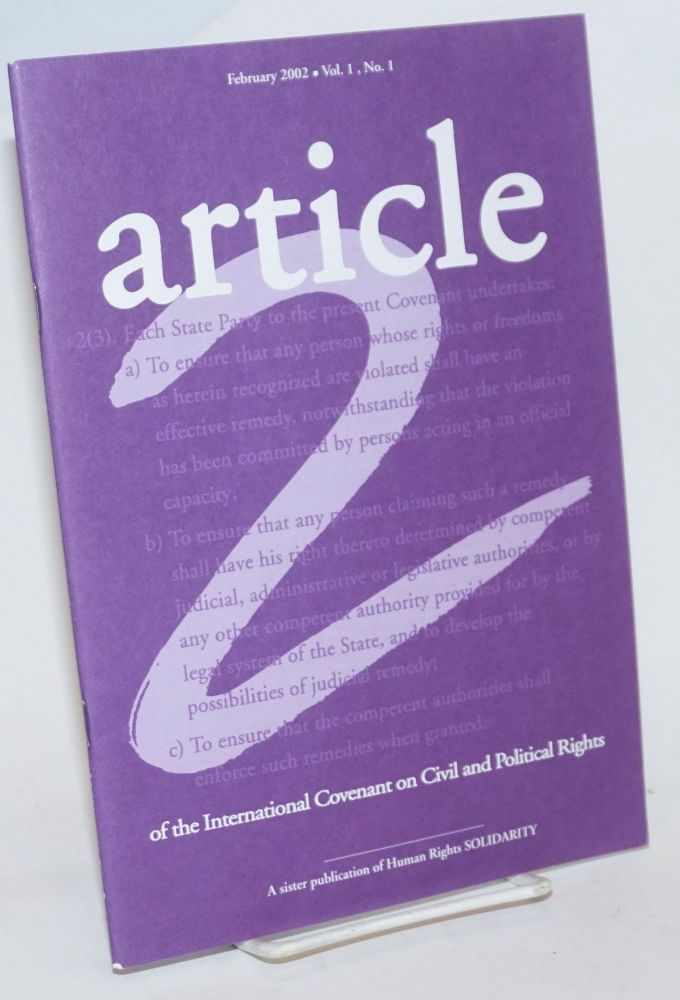 Article 2 of the International Covenant on Civil and Political Rights. Volume 1, Number 1, February 2002.