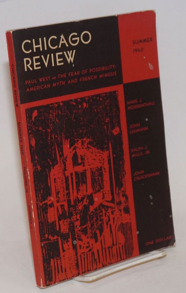 Chicago Review: vol. 14, #2, Summer 1960; Paul West on the Fear of Possibility. Hyung Woong Pak, Paul West Leonard Baskin, Lloyd Zimpel, Chao Tze-Chiang.